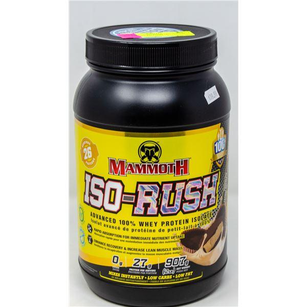 MAMMOTH ISO-RUSH ADVANCED 100% WHEY PROTEIN