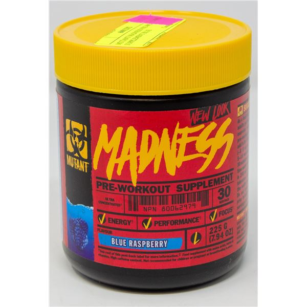 MUTANT MADNESS PRE-WORKOUT SUPPLEMENT BLUE