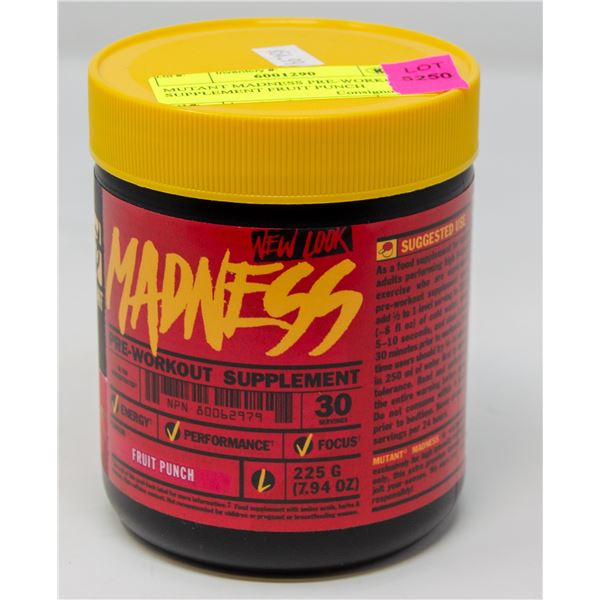 MUTANT MADNESS PRE-WORKOUT SUPPLEMENT FRUIT PUNCH
