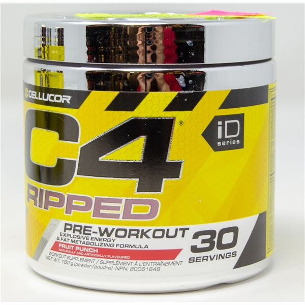 CELLUCOR C4 RIPPED PRE-WORKOUT EXPLOSIVE ENERGY &