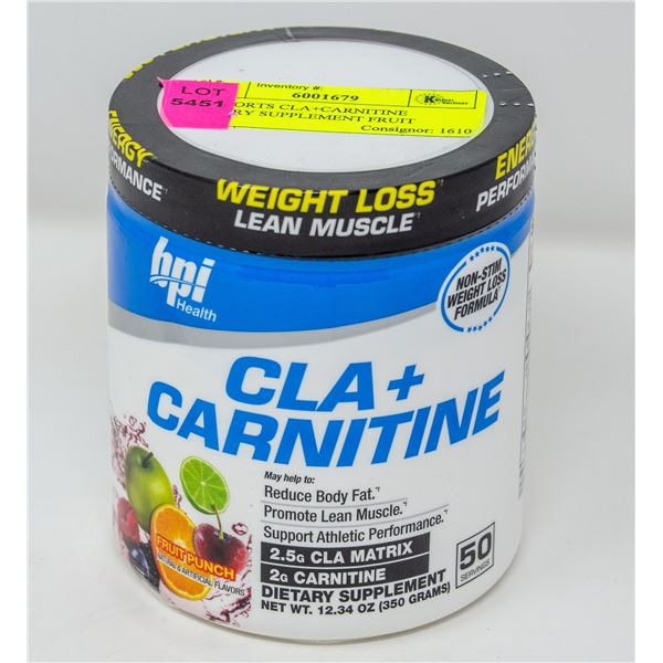 BPI SPORTS CLA+CARNITINE DIETARY SUPPLEMENT FRUIT