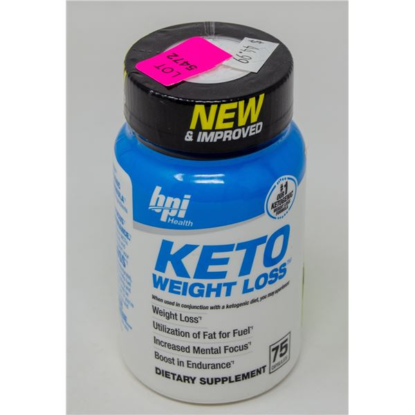 BPI HEALTH KETO WEIGHT LOSS DIETARY SUPPLEMENT