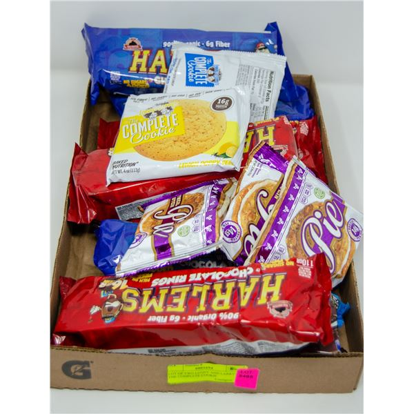FLAT OF ASSORTED PROTEIN CHOCOLATES, COOKIES &