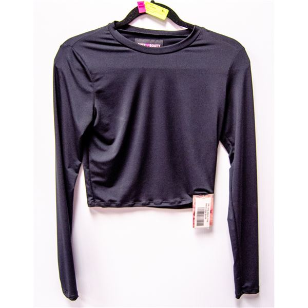 NEW CUTE BOOTY CROP TOP SIZE LARGE RETAIL $54.99