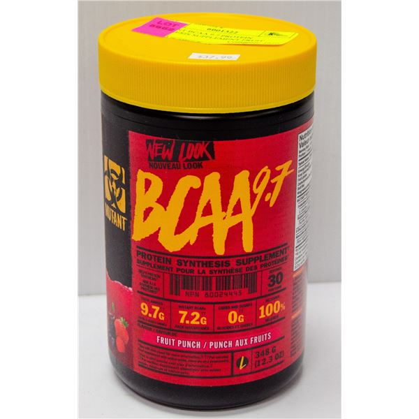 MUTANT BCAA 9.7 PROTEIN SYNTHESIS SUPPLEMENT FRUIT
