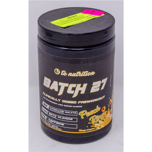 TC NUTRITION BATCH 27 CLINICALLY DOSED PRE-WORKOUT