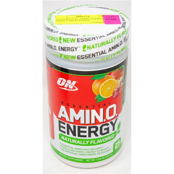 ON ESSENTIAL AMINO ENERGY SIMPLY FRUIT PUNCH