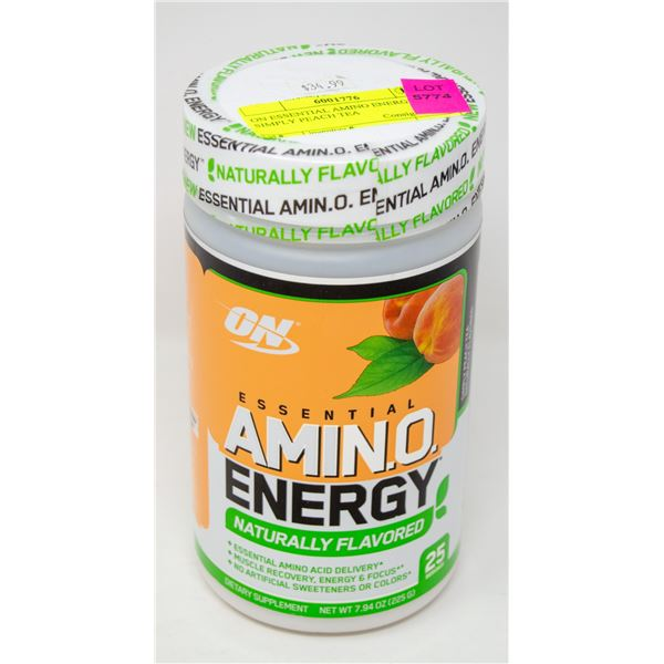 ON ESSENTIAL AMINO ENERGY SIMPLY PEACH TEA