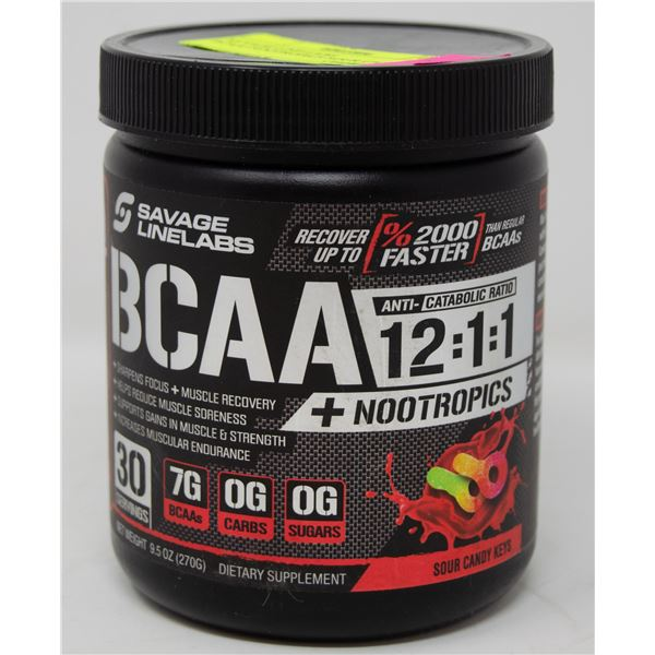 SAVAGE LINE-LABS BCAA+NOOTROPICS SOUR CANDY KEYS
