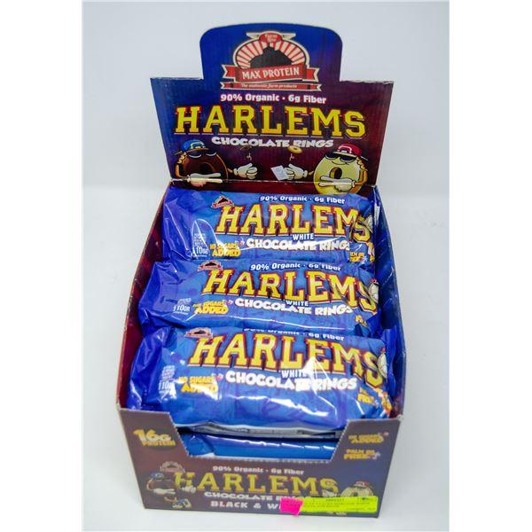 BOX OF 8 PACKS HARLEMS WHITE CHOCOLATE RINGS
