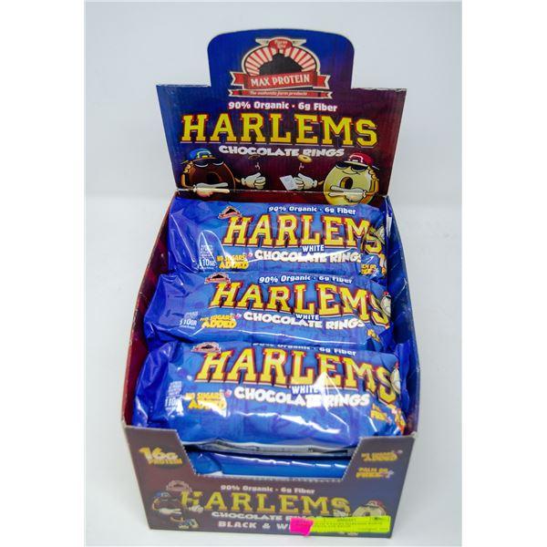 BOX OF 9 PACKS HARLEMS DARK CHOCOLATE RINGS