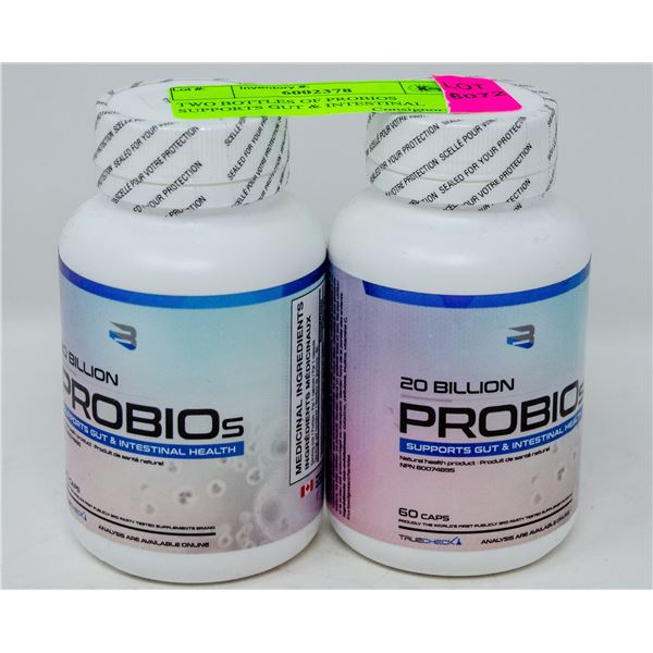 TWO BOTTLES OF PROBIOS SUPPORTS GUT & INTESTINAL