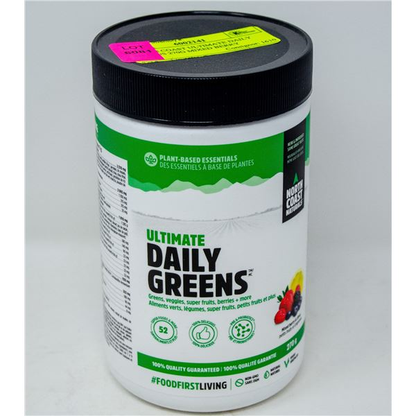 NORTH COAST ULTIMATE DAILY GREENS 270G MIXED BERRY