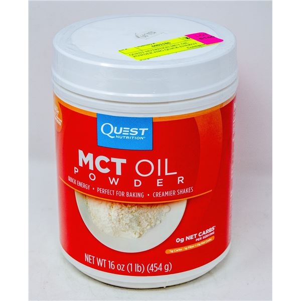 QUEST NUTRITION MCT OIL POWDER 458G QUICK ENERGY