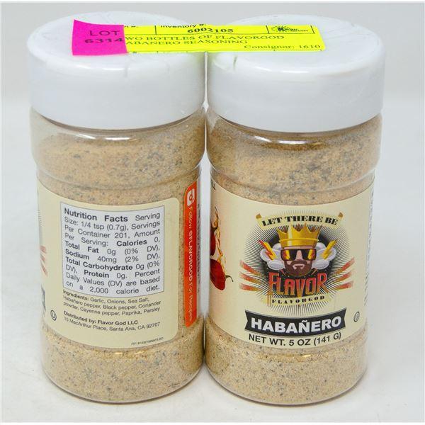 TWO BOTTLES OF FLAVORGOD HABANERO SEASONING