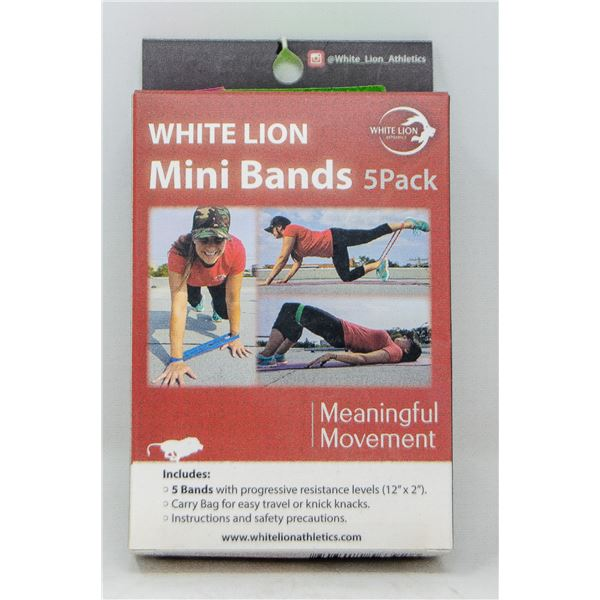 WHITE LION MINI BANDS 5-PACK WITH PROGRESSIVE