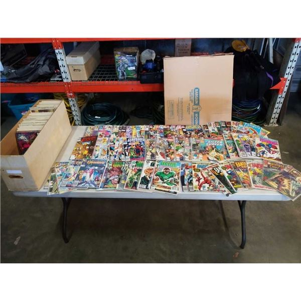 COLLECTABLE COMICS LARGE BOX OF OVER 200 BAGGED AND BOARDED COLLECTABLE COMICS