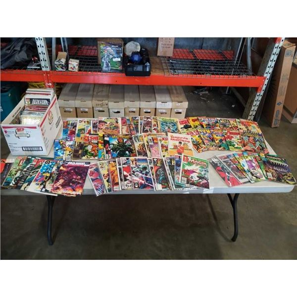 BOX OF OVER 150 COLLECTOR COMICS - SOME BAGGED AND BOARDED