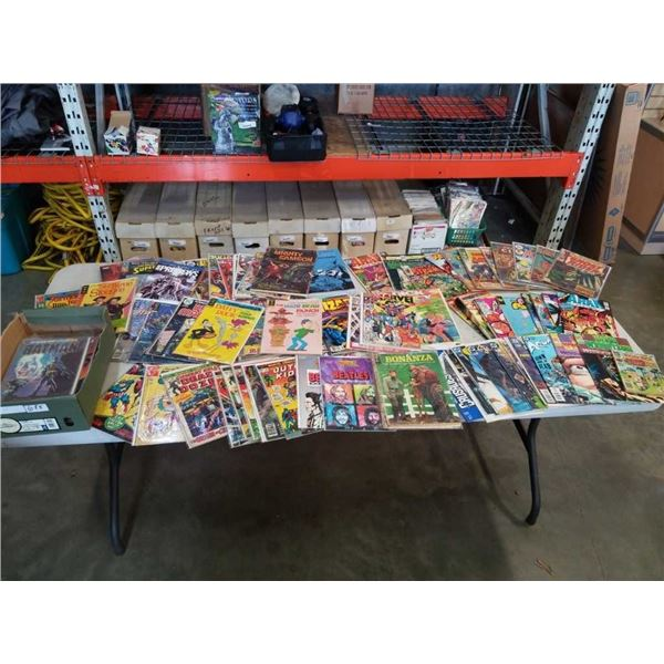 2 BOXES OF 100 COLLECTABLE COMICS- SOME BAGGED AND  BOARDED