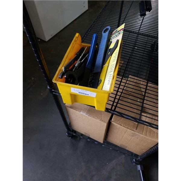 Tote of Bicycle repair wrenches
