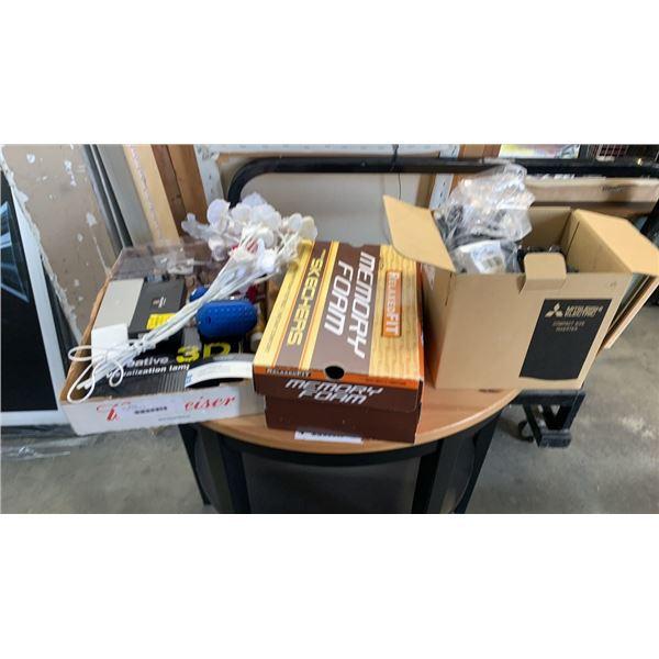 3 boxes of electronics