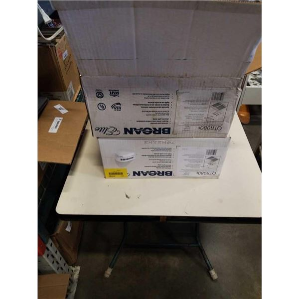 2 NEW BROAN ELITE MODEL QTR080F MOTOR ASSEMBLY AND GRILL FOR BATHROOM FAN