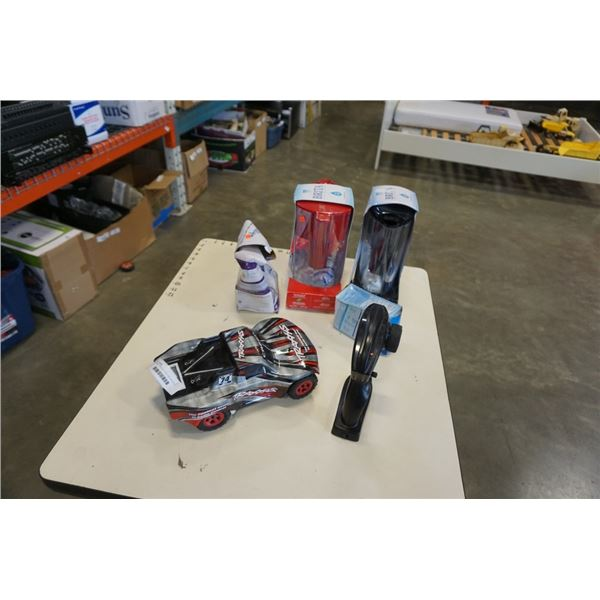 WORKING TRAXXAS 74 RC CAR AND BRITA WATER FILTRATION JUGS