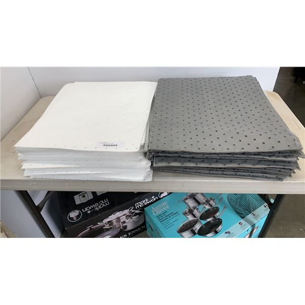 100 new absorbent spill sheet