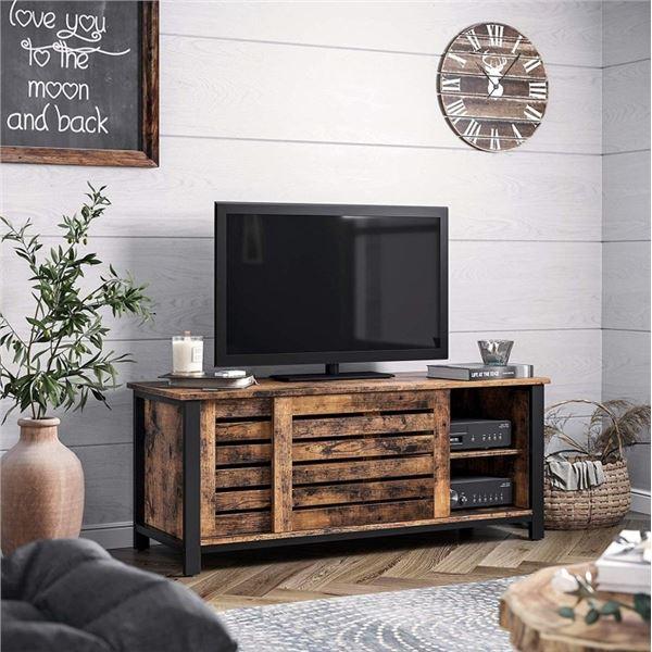 NEW MODERN SLIDING DOOR TV CONSOLE - RETAIL $299