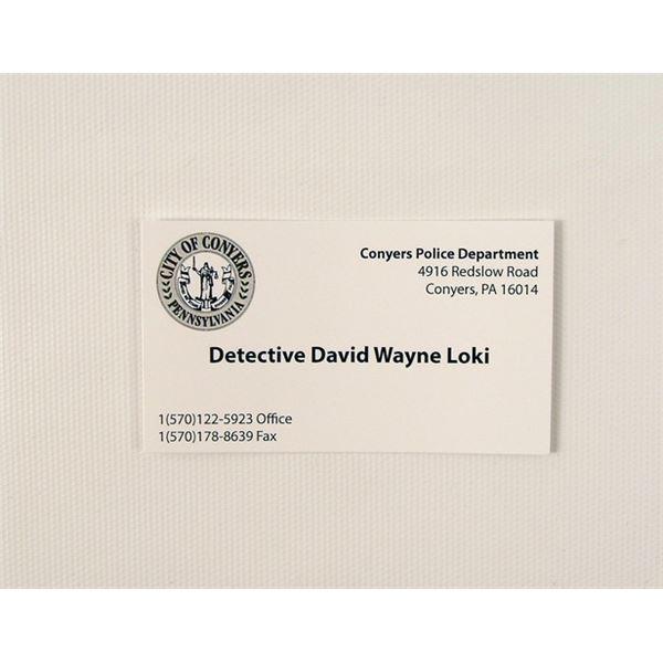 Prisoners Detective Loki (Jake Gyllenhaal) Movie Props