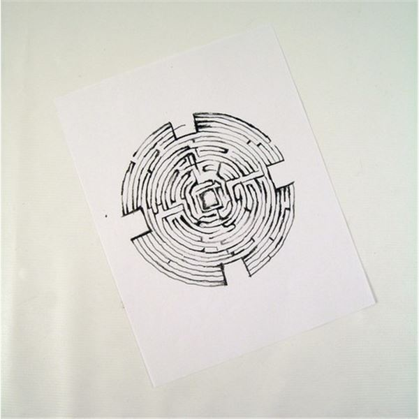 Prisoners Bob Taylor (David Dastmalchian) Maze Drawing Movie Props