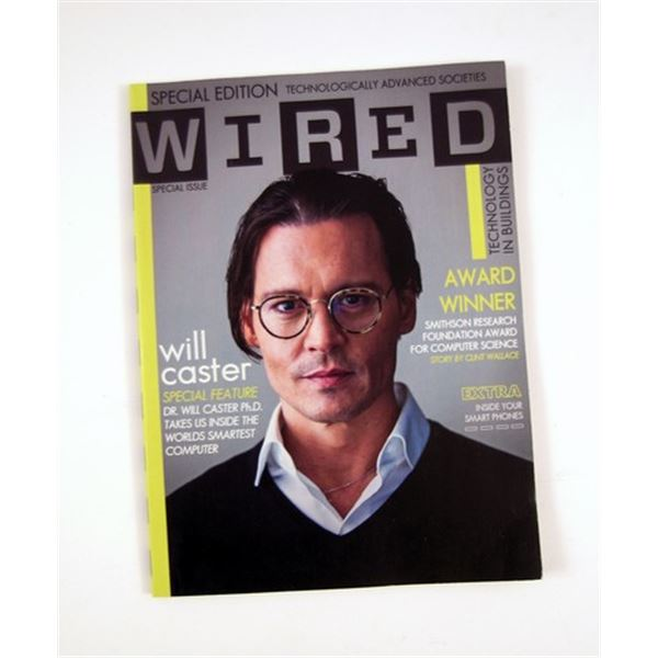 Transcendence Will Caster (Johnny Depp) Wired Magazine Movie Props
