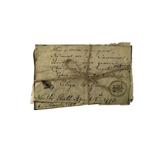 Django Candie Plantation Paperwork Movie Props