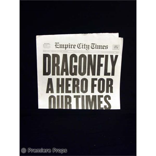 Superhero Movie Empire City Times Newspaper Movie Props