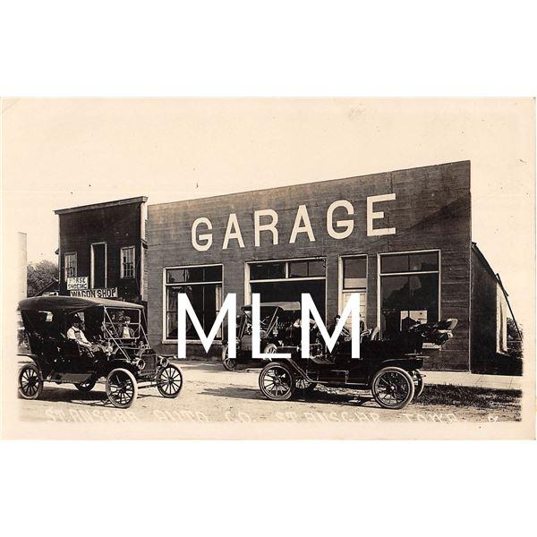 Garage Auto Shop St. Ansgar, Iowa Photo Postcard