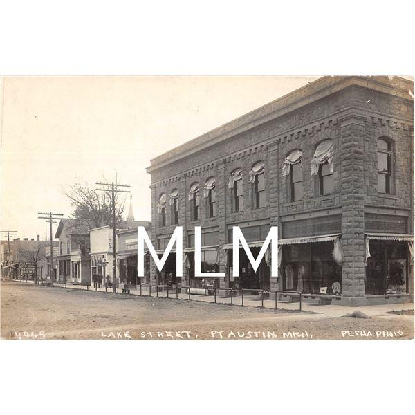 Department Store Lake Street Port Austin, Michigan Pesha Photo Postcard