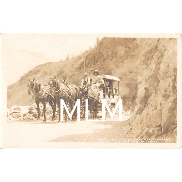Lake Chelan Stage Coach Cape Horn Washington Lindsley Photo Postcard
