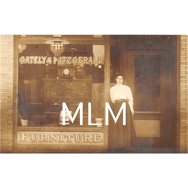 Gately & Fitzgerald Furniture Store Front Medford, New Jersey Photo Postcard