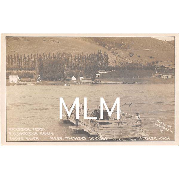 Riverside Ferry Near Thousand Springs, Idaho Photo Postcard