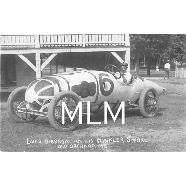 Auto Racing Disbrow in Winkler Special Old Orchard, ME Photo Postcard