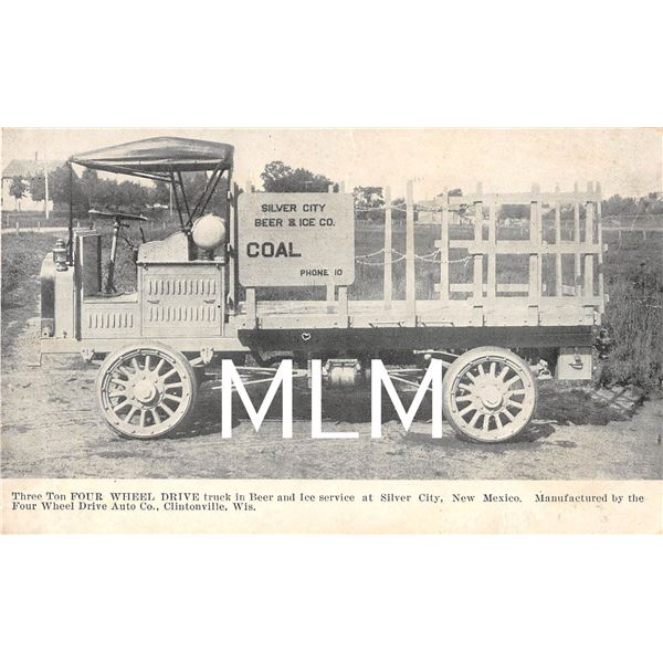 Silver City Beer & Ice Co. Delivery Truck New Mexico Postcard