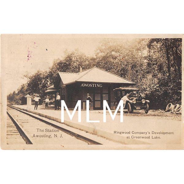 The Station Depot Awosting, New Jersey Ringwood Co Dev. Photo Postcard
