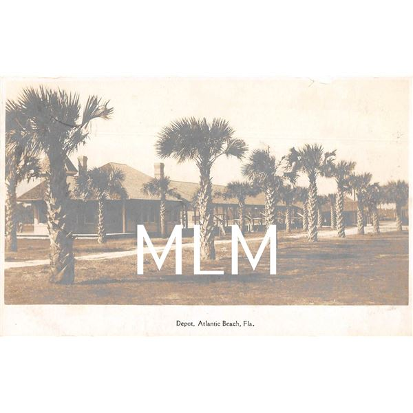 Train Depot, Atlantic Beach, Florida Photo Postcard
