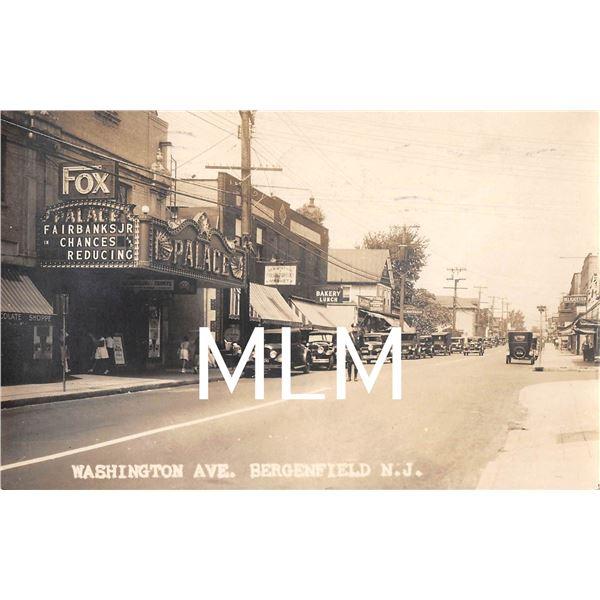 Washington Ave. Palace Theatre Bergenfield, New Jersey Photo Postcard