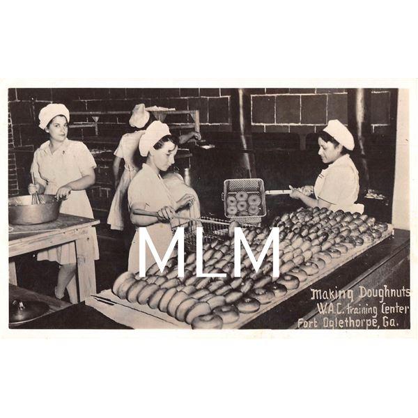 WAC Women Making Doughnuts Training Center Ft. Oglethorpe, GA Photo Postcard