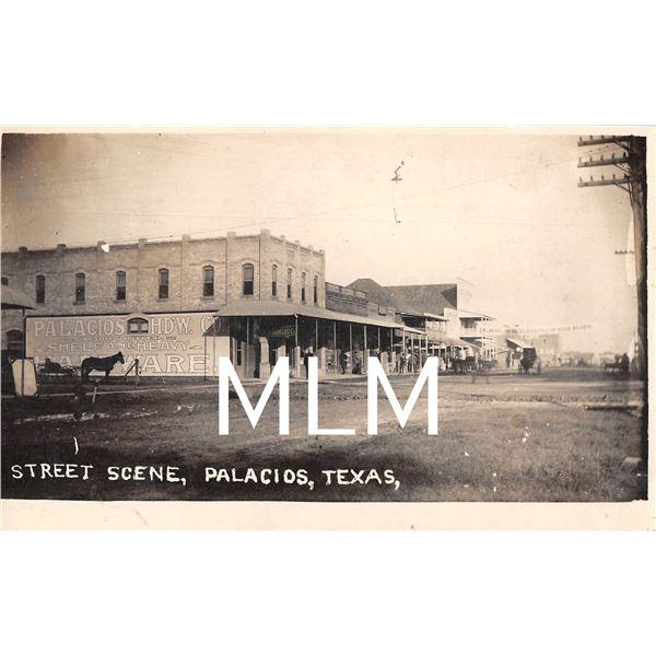 Street Scene, Palacios, Texas Photo Postcard