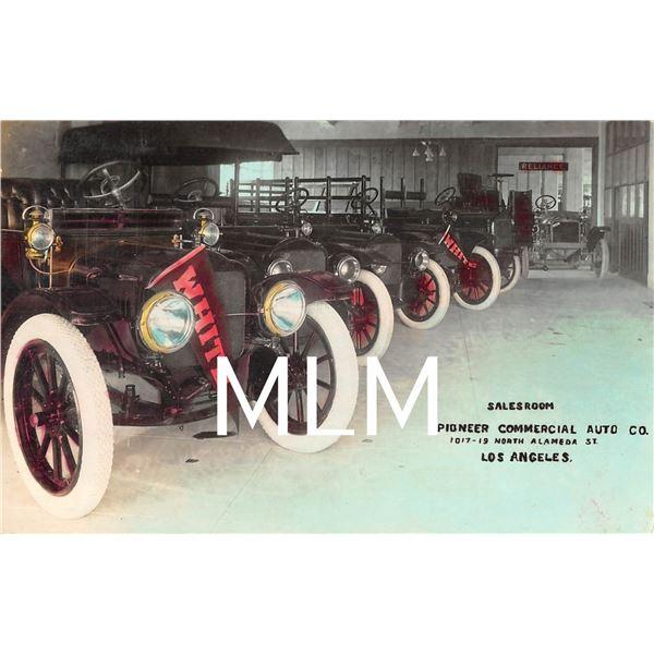 Salesroom Interior Pioneer Comm. Auto Co. Los Angeles, CA Photo Postcard