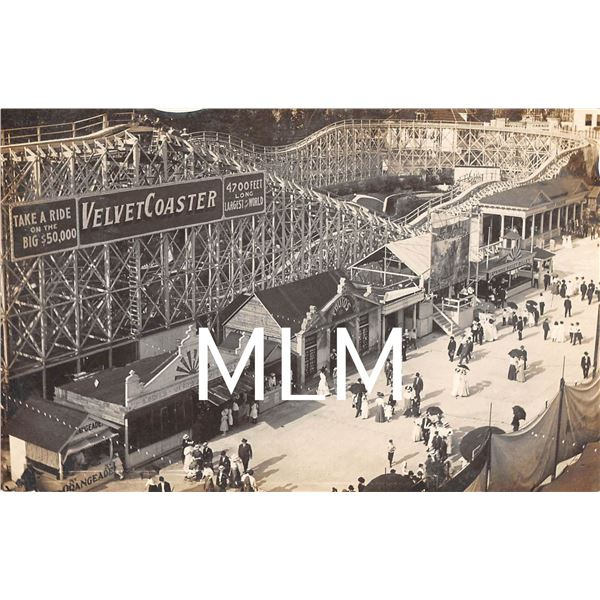 Roller Coaster Photo Studio & Games Riverview Expo Chicago, IL Photo Postcard