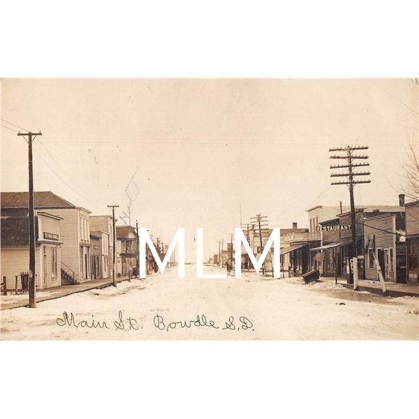 Main St. Bank of Bowdle, South Dakota Photo Postcard
