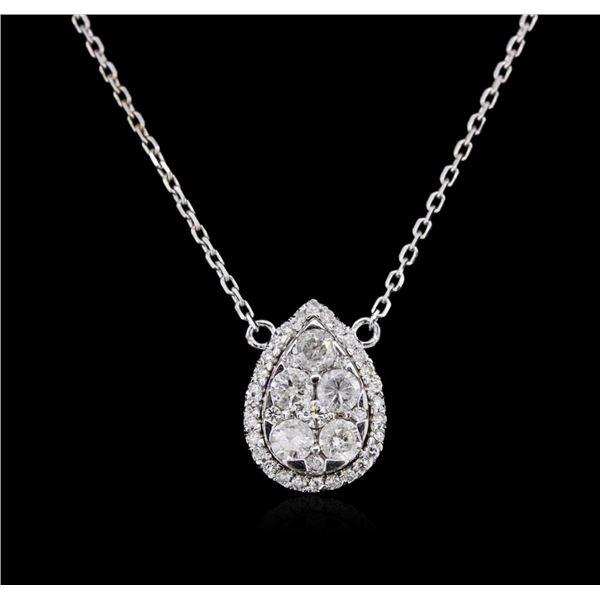 14KT White Gold 0.85 ctw Diamond Necklace